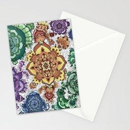 Rainbow Mandala Stationery Cards
