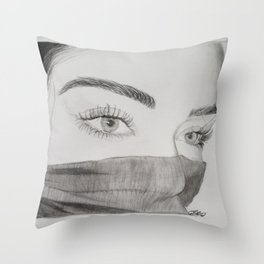 Behind the eyes Throw Pillow