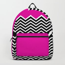 Flat Pink and Classic Chevron Backpack