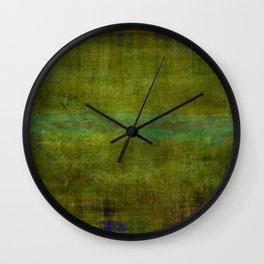 Green burrows ~ Abstract Wall Clock