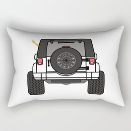 Jeep Wave Back View - White Jeep Rectangular Pillow