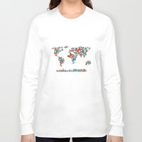 map Long Sleeve T-shirts featuring map  by mark ashkenazi