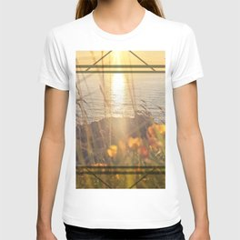 Golden Sunset - square graphic T-shirt
