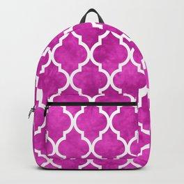 Classic Quatrefoil Lattice Pattern 901 Magenta Backpack