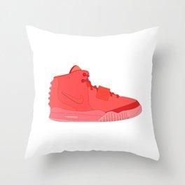 Red October N I K E AIR Y E E Z Y 2 NRG Throw Pillow