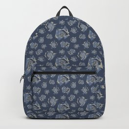 Geo Roses Blue Backpack