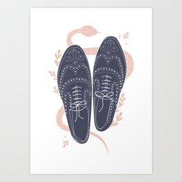 Serpent Brogues Art Print