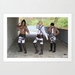 20151024 EruRiHan, Dance! Art Print