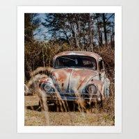 volkswagen Art Prints featuring Volkswagen by ken fager