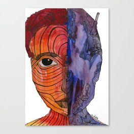 scared to turn blue Canvas Print