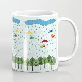 Birds in the rain. Coffee Mug