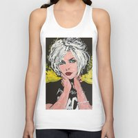 blondie Tank Tops featuring Blondie by Matt Pecson