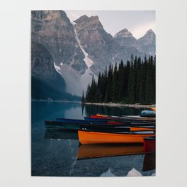 Canoes & Mountains Poster