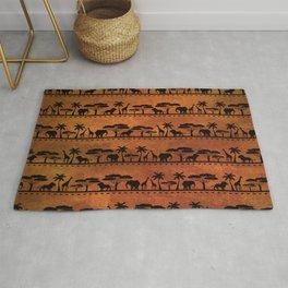African Animal Pattern Rug