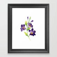 Purple flowers PAINTED NICE Framed Art Print