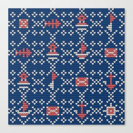 Grandma's knitting pattern for Saylor's Ugly sweater #2 Canvas Print