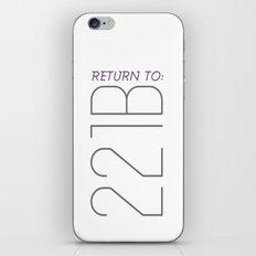 Return to 221B iPhone & iPod Skin