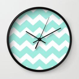Green Chevron Wall Clock