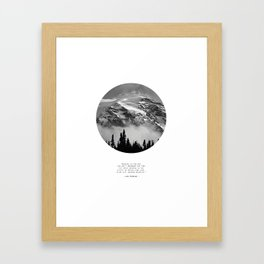 Climb that Goddamn Mountain Framed Art Print