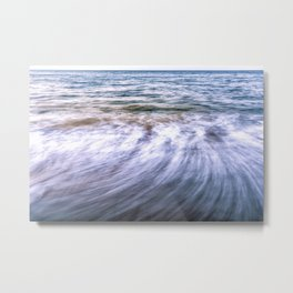 Waves and sand on the beach Metal Print
