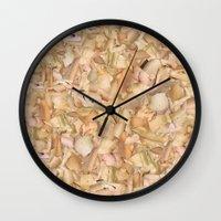 in the flesh Wall Clocks featuring Flesh by Jessica Baldanza