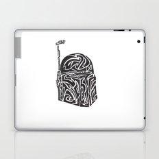 Boba Fett [Black on White] Laptop & iPad Skin