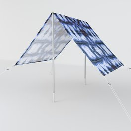 Blue Oxford Shibori Sun Shade