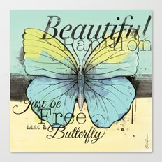 Beautiful Papillon ( butterfly ) Canvas Print