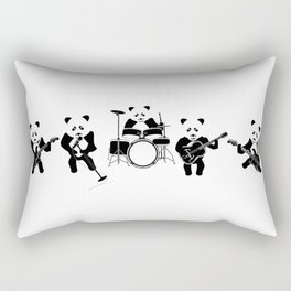 Panda Rock Band Rectangular Pillow