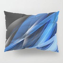 blue shards  lines dark background art abstract material Pillow Sham