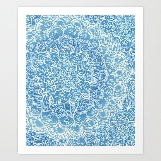 Blueberry Lace Art Print
