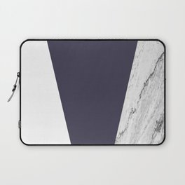 Marble Eclipse blue Geometry Laptop Sleeve