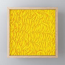 It's Full of Bananas / Yellow graphic banana pattern Framed Mini Art Print