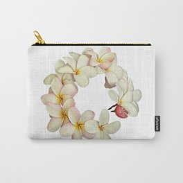 Plumeria Tropical Flower Garland Carry-All Pouch