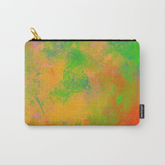 Taste The Rainbow - Multi coloured, abstract, textured painting Carry-All Pouch
