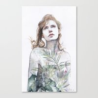 breathe Canvas Prints featuring Breathe in, breathe out by agnes-cecile