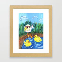 First swim Framed Art Print
