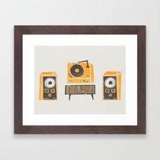 Vinyl Deck And Speakers Framed Art Print