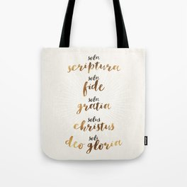 The Five Solas of the Reformation Tote Bag