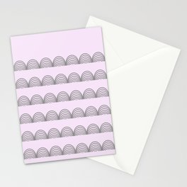 Pastel Scallops - For a Minute There I Lost Myself Stationery Cards