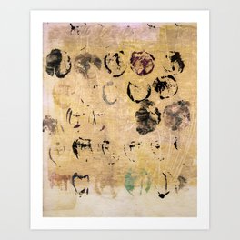marks neutral Art Print