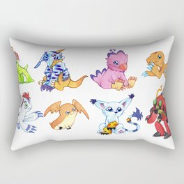 Digimon Group Rectangular Pillow