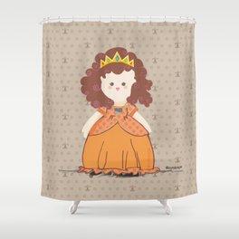Brunette Princess Shower Curtain
