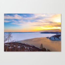 Lake Baikal and Angara River Canvas Print