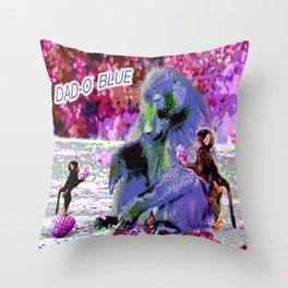DAD-O BLUE Throw Pillow