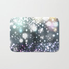 Christmas pattern with snowflakes and lights Bath Mat