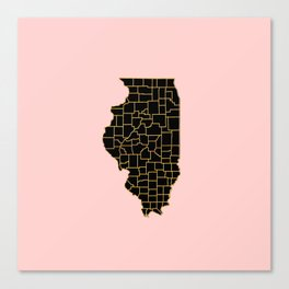 Illinois map Canvas Print