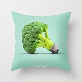 Brocolight B Throw Pillow
