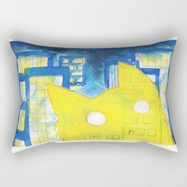Cat Shadow on Buildings Rectangular Pillow