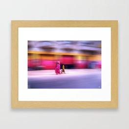 In Sync in Senegal Framed Art Print